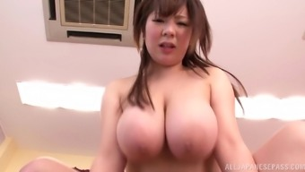 A round Japanese people girl gets her hirsuite twat hammered and cum in their entrance
