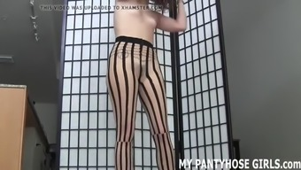 Permit me to provide you with POV handjob in nothing but pantyhose JOI