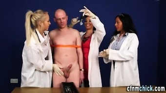 Cfnm medical professionals get cumshot