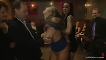 Two cute chunky women get fucked by a number of guys and enjoy it