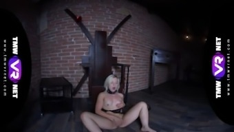 TmwVRnet -Anna Rey- Perverted brown indicates her small whole body before BDSM sess