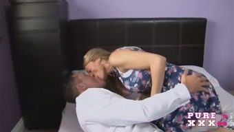 Gentle haired naughty MILF along with large fake boobs loves include the act of oral sex with her partner