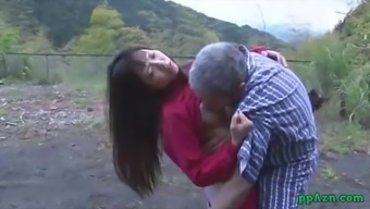 Asian Girl Getting Her Pussy Licked And Fucked By Old One Ejaculate To effectively Butt Backyard At