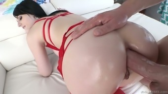 deepthroat BJ appointment winds up with sultry analfuck along with blemished Alex Harper