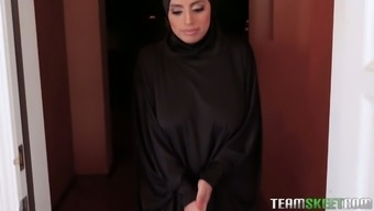 Large breasted hijab Ella Knox gets nailed missionary style complicated enough