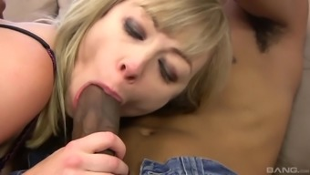Adrianna Nicole's anus jam-packed with sperms after an interracial fuck