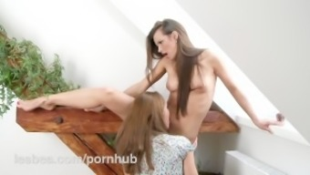 Lesbea High definition Zuzana Z buries her have to face in charming younger pussy