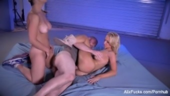 Alix and Sarah fuck a satanic colossal from the mountain tops