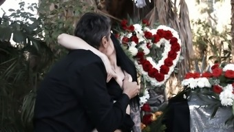 Widower fucks mean and love-making hungry Marley Brinx directly at the funeral