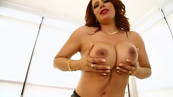HD POV video of mature pornstar Nicky Ferrari sucking a fat cock
